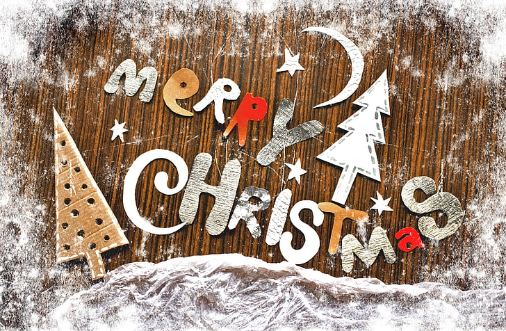 HD wallpaper: merry Christmas clip art, letters, holiday.