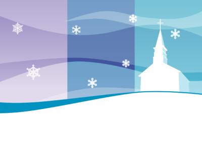 Image: Blue Sky Church Winter.