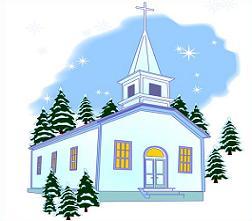 Winter Church Cliparts.