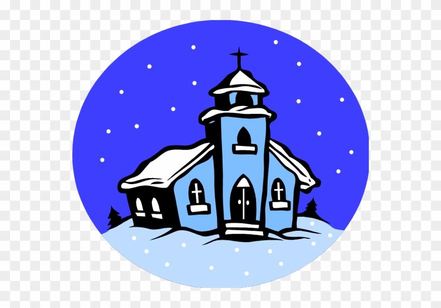 Winter Clipart Church Scene.