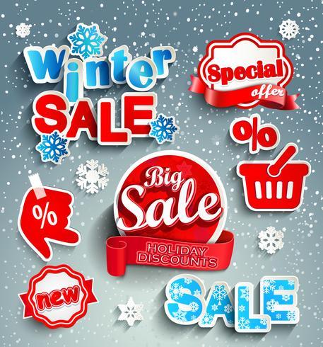 Winter sale background..