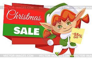 Elf Girl and Christmas Sale, Winter Holiday Off.