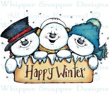 Happy Winter Snowmen.