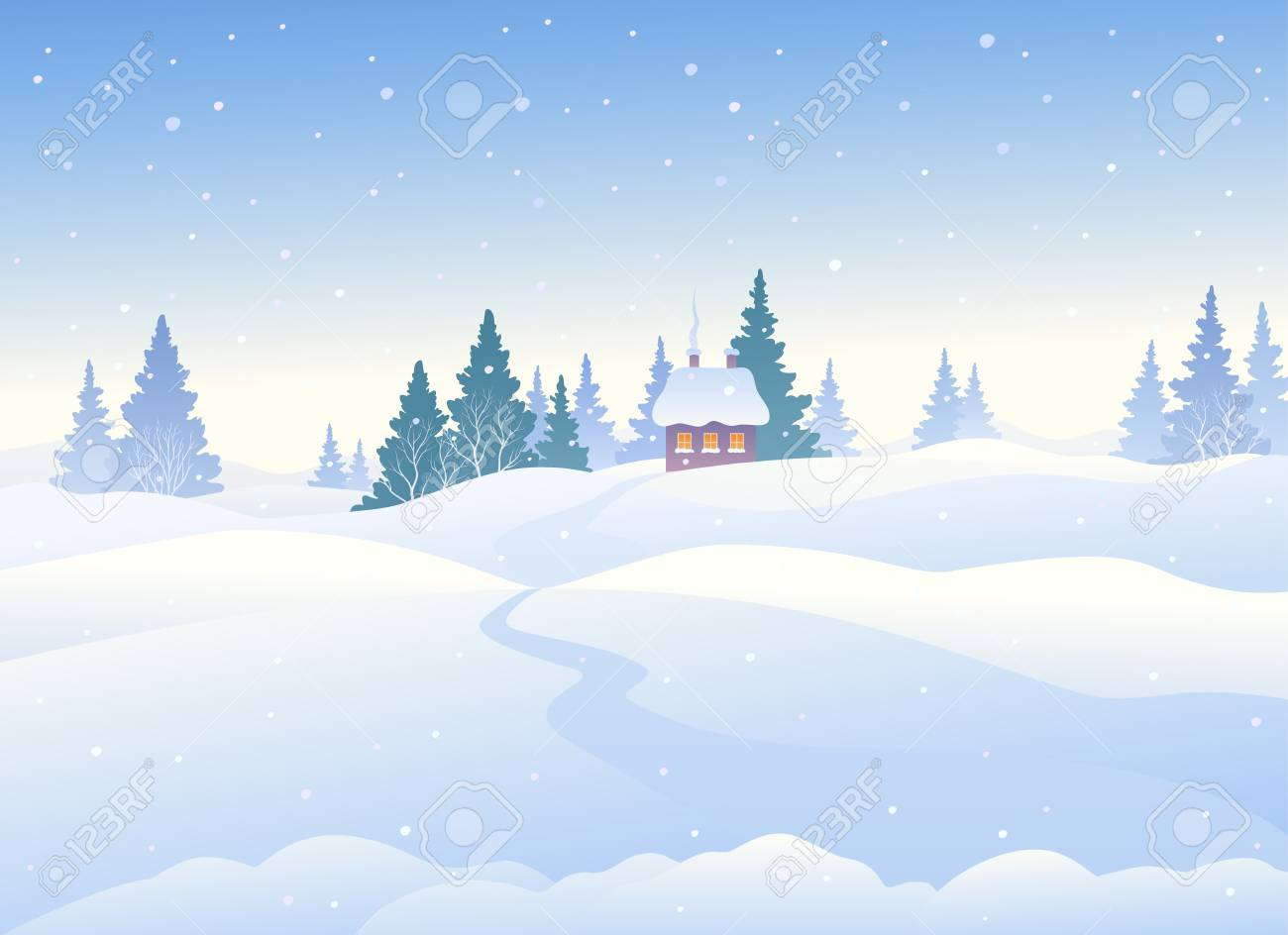 Winter clipart background 4 » Clipart Station.