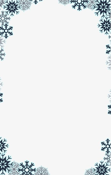 Snowflake Border, Snowflake Clipart, Winter Elements PNG.