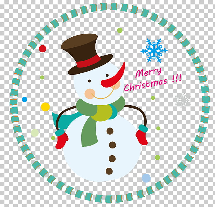 Holiday Christmas Gift Happiness , winter snowman PNG.