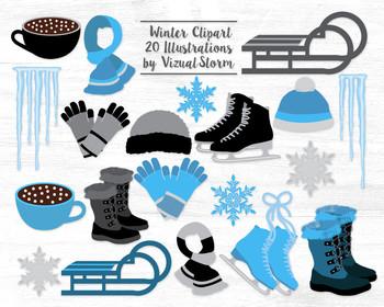 Winter Clipart Graphics.