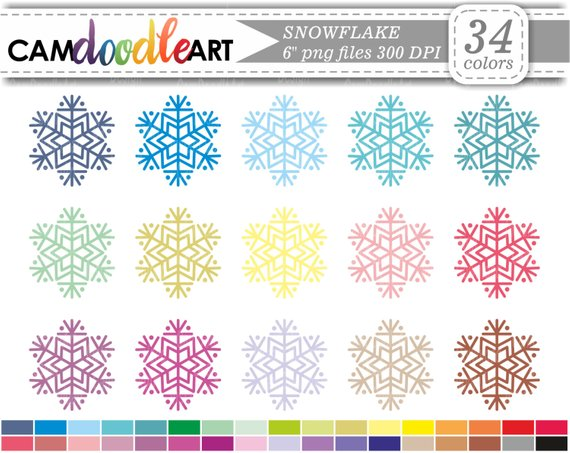 Snowflake Clipart,Winter Clipart, Christmas Clipart.