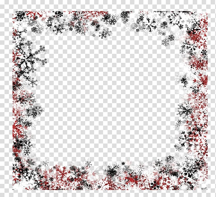 Multicolored snowflakes frame, Snowflake Winter Illustration.