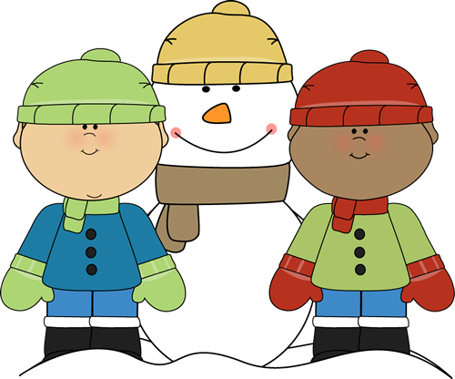 Winter clip art for kids.