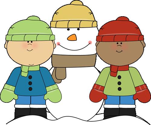 Winter clip art for kids.