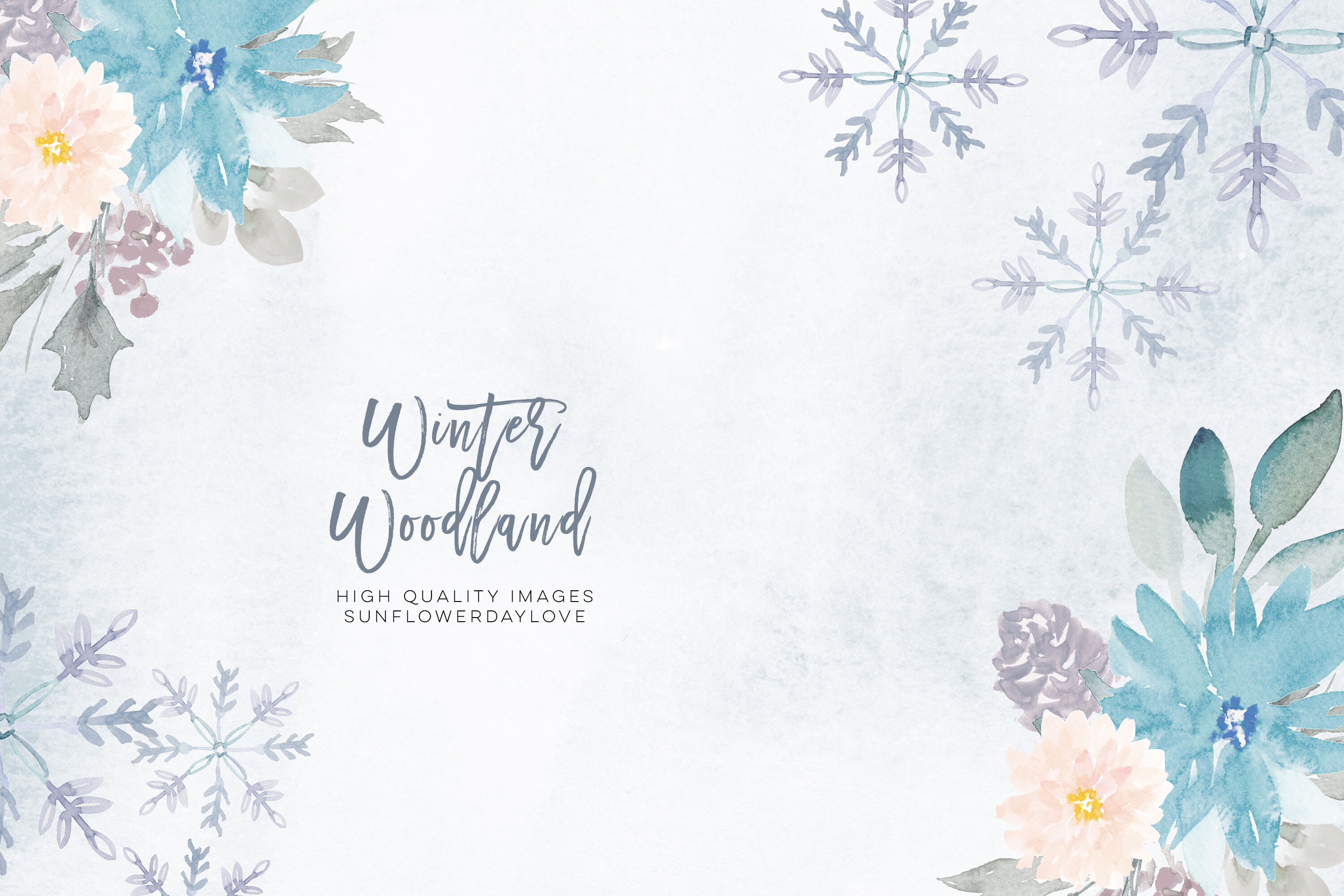 Woodland Winter Clipart Frame, Snow Holiday Gold Frames By.