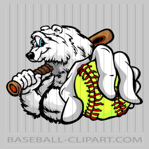 Winter Softball Clipart Image. Easy to Edit Vector Format..