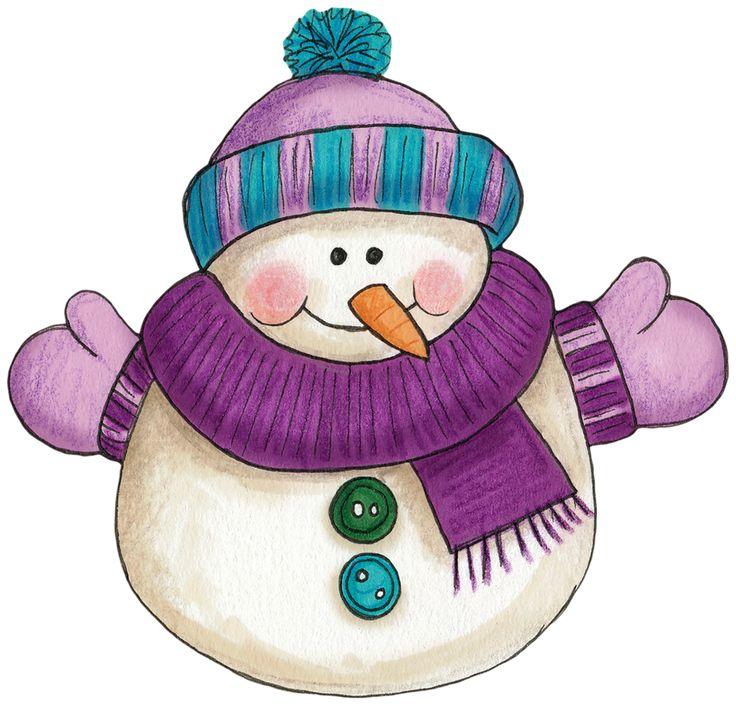 Purple Winter Clipart.