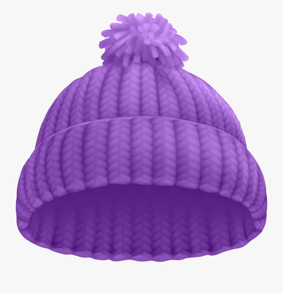 Purple Winter Hat Png Clip Art Image.