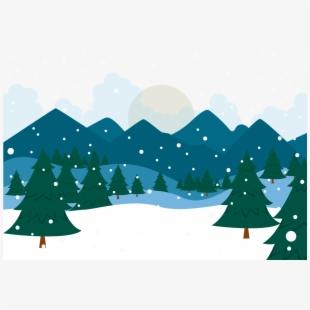 Winter Clipart Landscape.