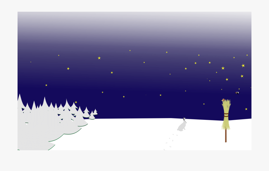 Clipart Winter Night Scene , Transparent Cartoon, Free.