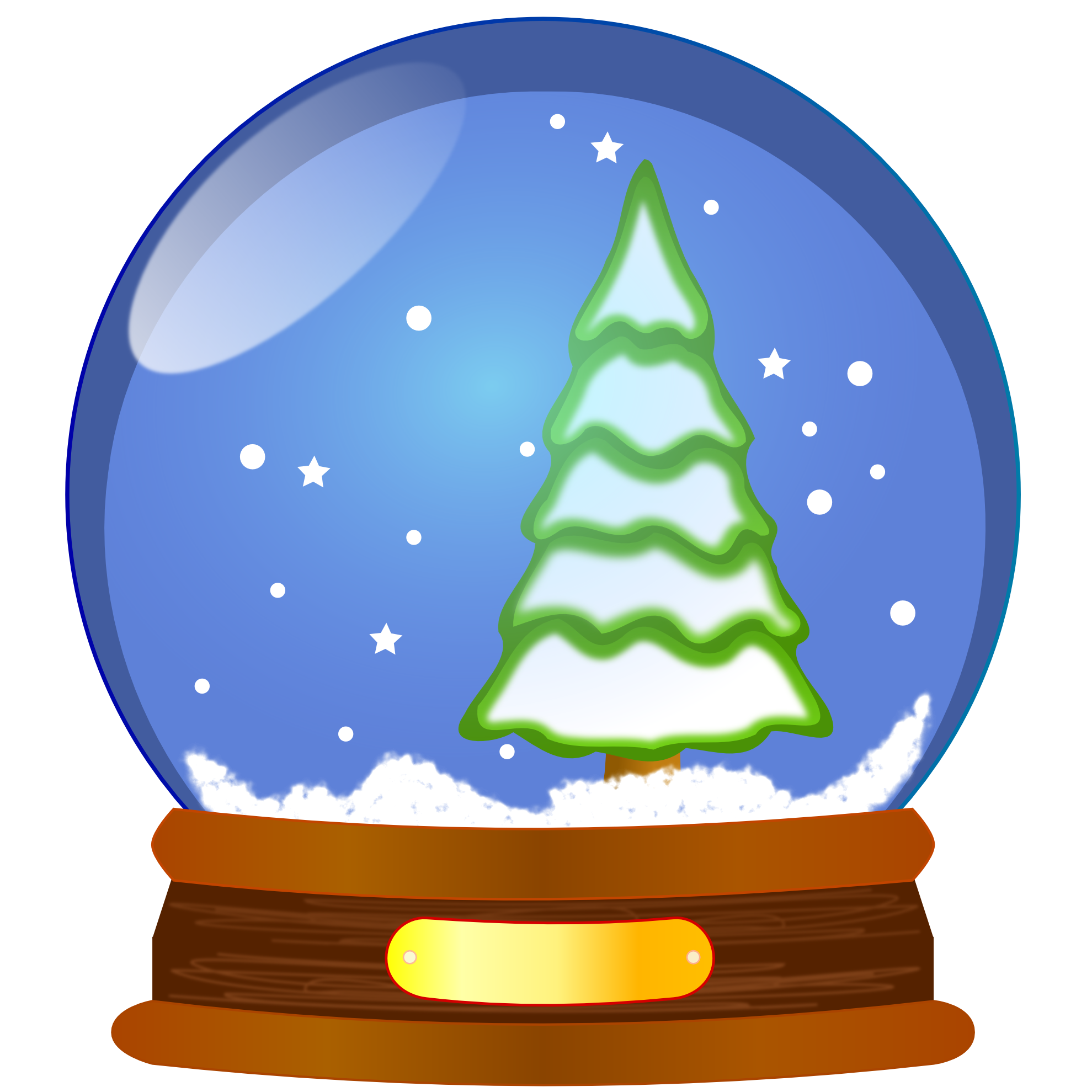 Winter Snow Globe Clipart.