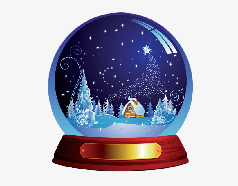 Snowglobe Clipart Winter Snow Globes Christmas Snow.