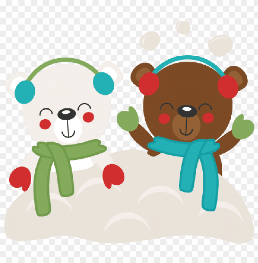 bear winter clipart transparent background.
