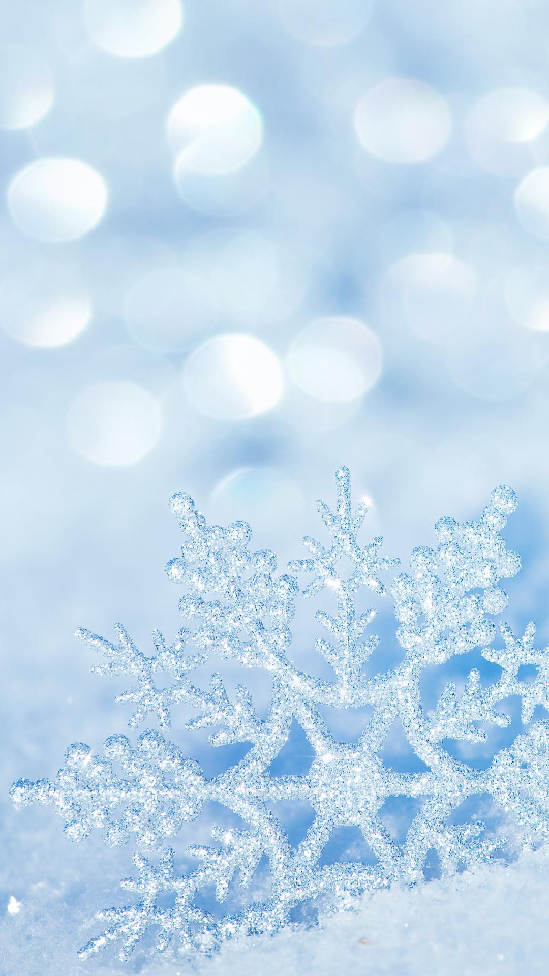 Winter Snowflake iPhone 7 Plus Wallpaper.