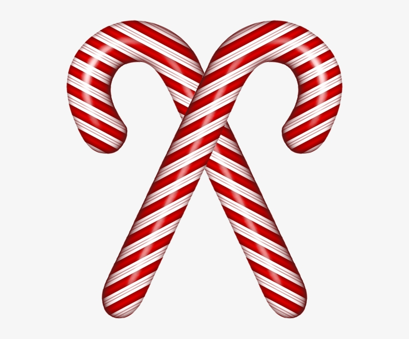 Watercolor Peppermints Candy Cane Clip Art Winter Clipart.