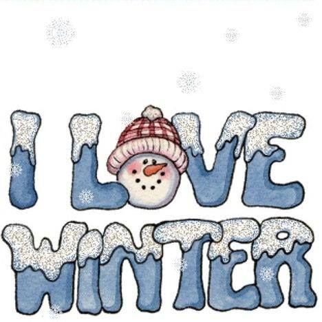 I love winter blue snow.