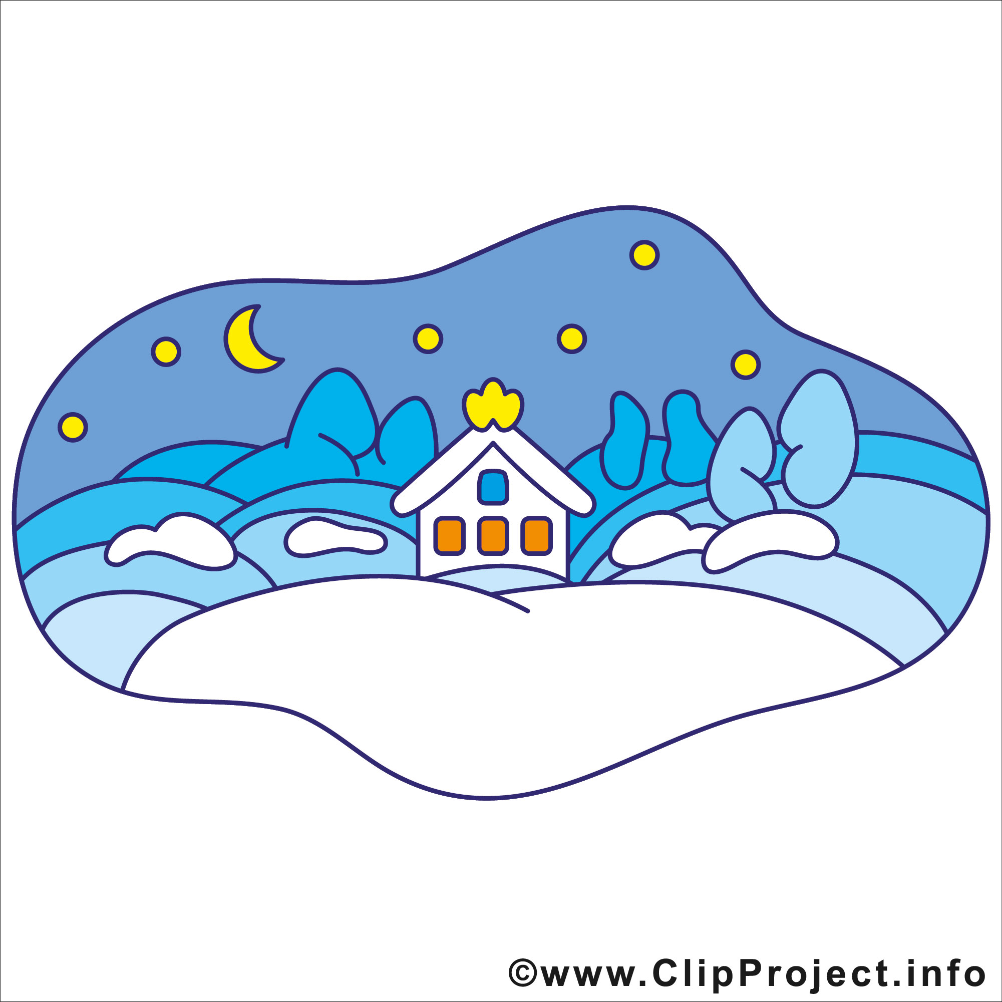 Happy holidays winter clipart image #10106.