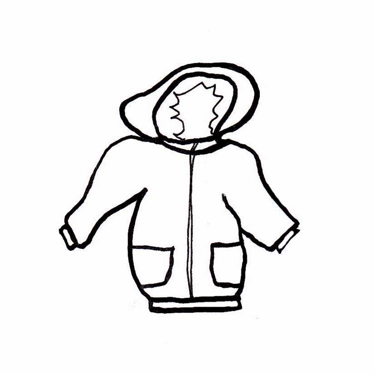 Winter Clothes Clipart Black And White.