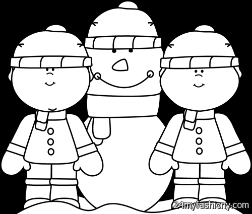 Winter Clothes Clipart Black And White images 2016.