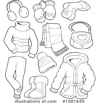 Winter Coat Clipart Black And White.