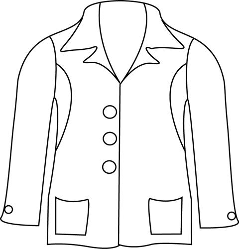 Winter coat clipart black and white jacket clip art black sIDP5z.