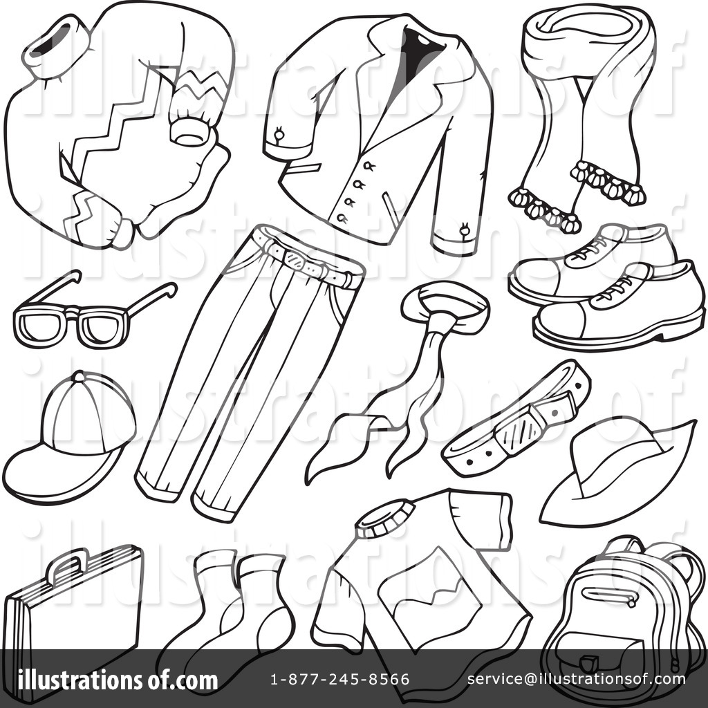 Clothing Clipart Black And White.