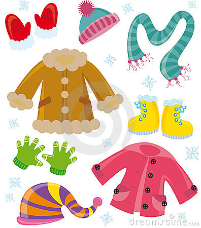 Winter clothes clipart #7