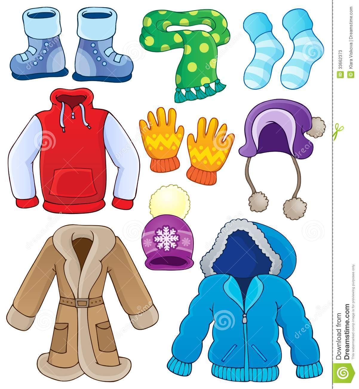 Winter clothes clipart #3