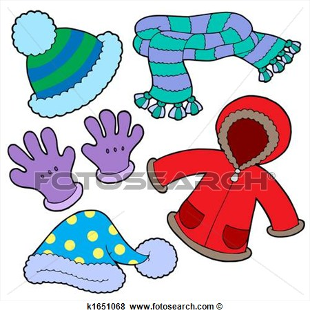 Winter clothes clip art.