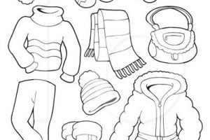Winter clothes clipart black and white 12 » Clipart Station.