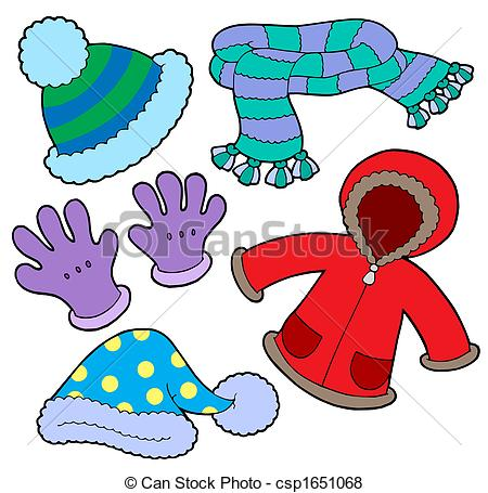 Winter illustration drawing isolated Clipart and Stock.