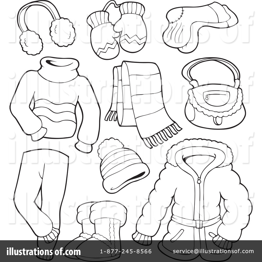 Winter Clothes Clipart #1081649.