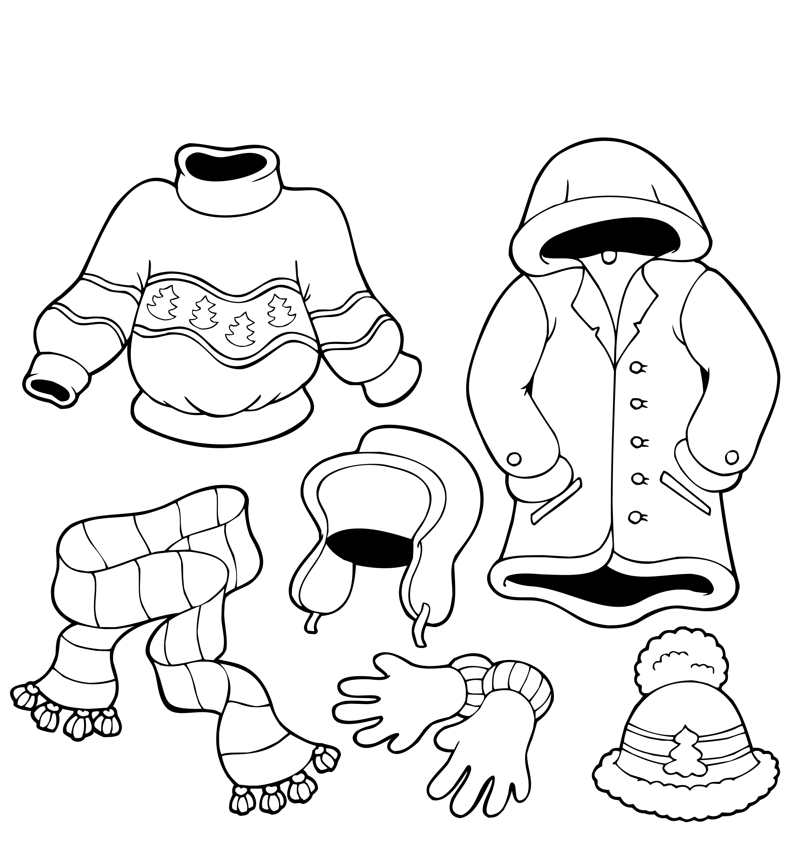 889 Winter Clothes free clipart.