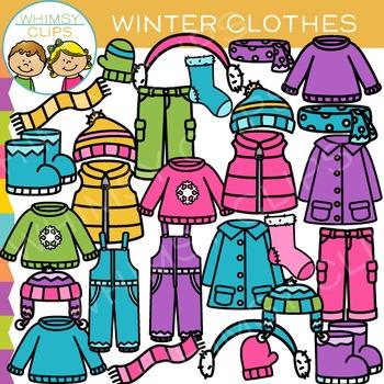Winter Clothes Clip Art.