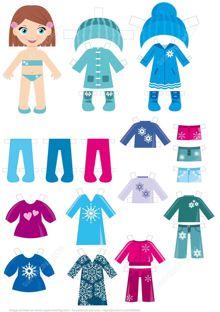 887 Winter Clothes free clipart.