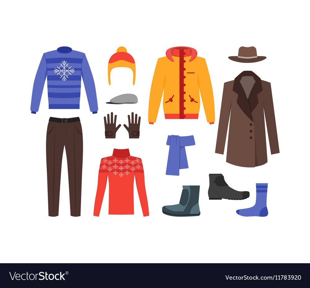 Winter Clothing Man Set.