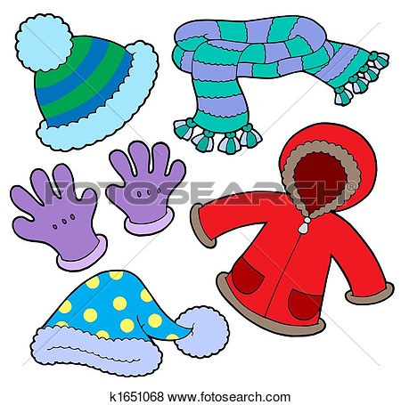Winter kids coat clipart.