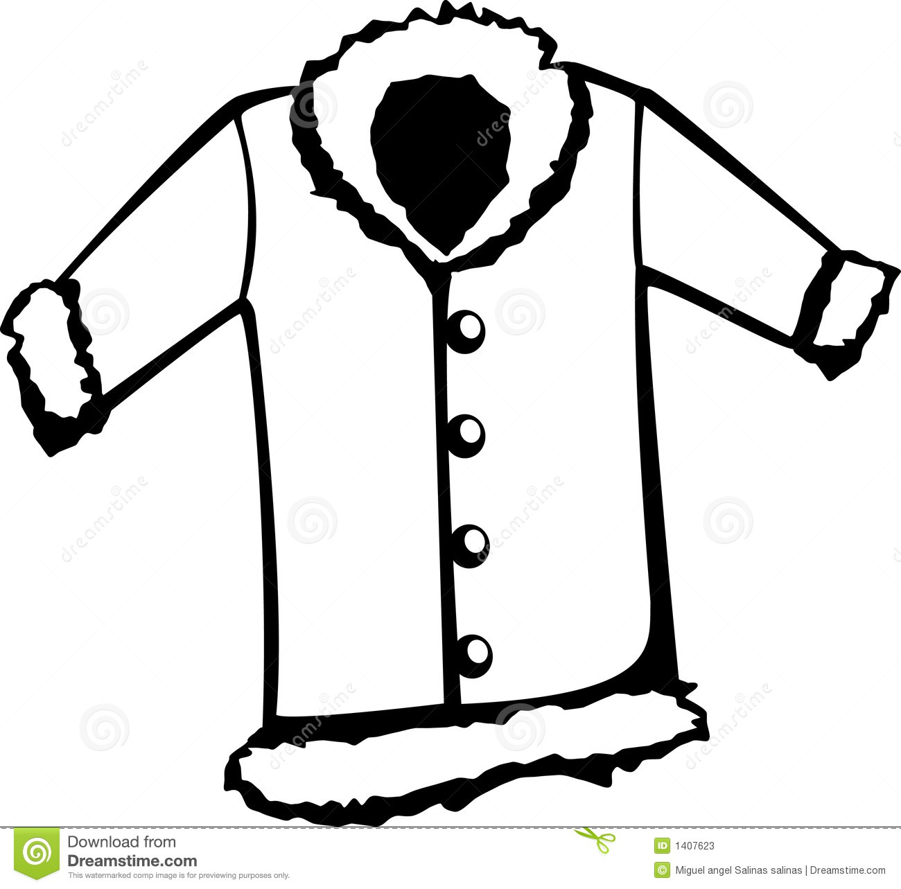 Winter Coats Clipart.