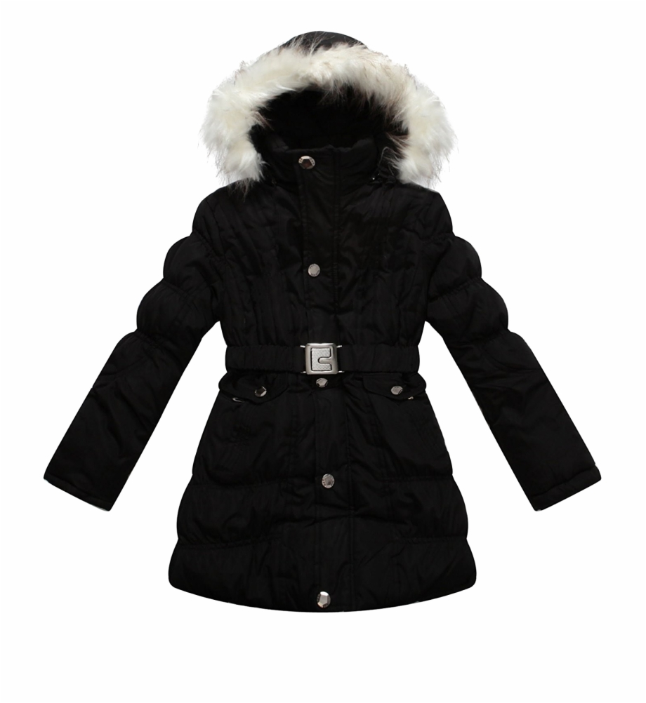 Black Winter Jacket For Women Png Transparent Image.
