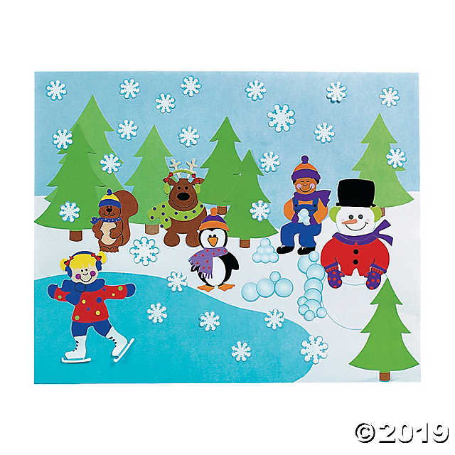 Winter Sticker Scenes.