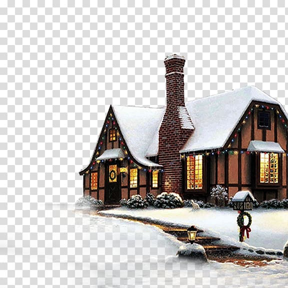 SnowFall Free Snowflake Christmas , Winter house transparent.