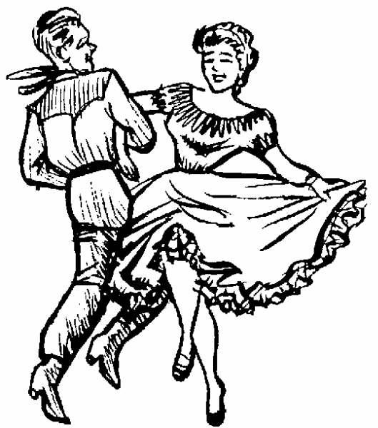 Square Dance Clipart.