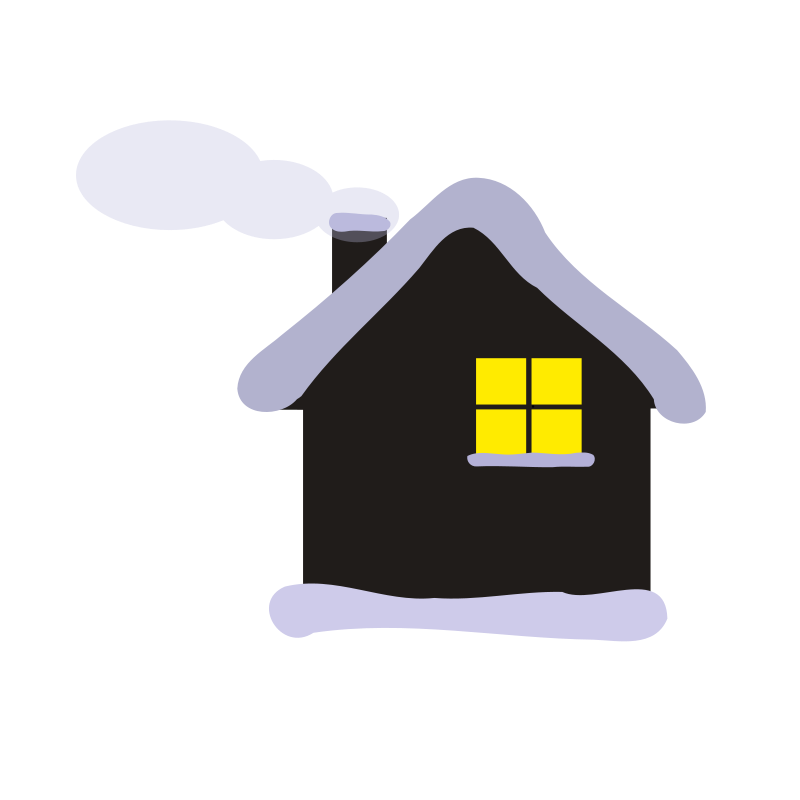 Free Clipart: Winter cottage.